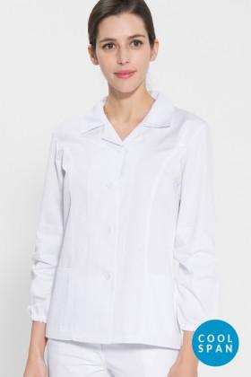 긴팔 TC20수 쿨스판 위생복 셔츠(여성용) /화이트(FS-104)