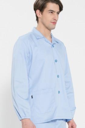 긴팔 TC32수 스판덱스 위생복 셔츠(남성용) /스카이블루(FS-111)